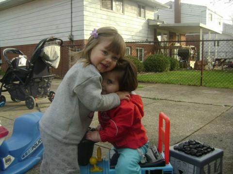 Cousin hug
